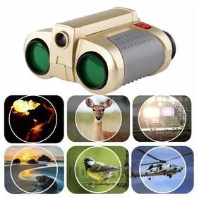 Portable Night Vision 4x30mm Surveillance Pop-up Light Telescope Binoculars Toy