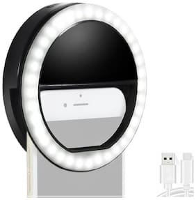 Portable Selfie Beauty LED Ring Flash Night Light for All Smartphones By Crystal Digital