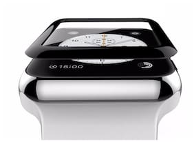 Premium Quality 3D Curved Edge 9H Hardened Tempered Glass for Apple Watch (42mm, Black)