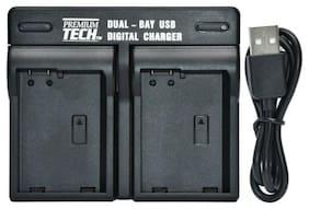 Premium Tech EN EL14 / EN EL14a Dual Battery Charger for Nikon D3300 D5300 D5500