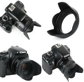 Pro Hard Lens Hood with Clamp Collar for Fujifilm Finepix HS30EXR HS33EXR