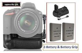Pro Series Multi-Power Battery Grip With 2-Pcs EN-EL14a Battery For Nikon D3300