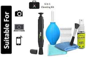 Professional Lens Pen Cleaning Pro System + 6-in-1 Cleaning Kit Combo for Cameras and Sensitive Electronics