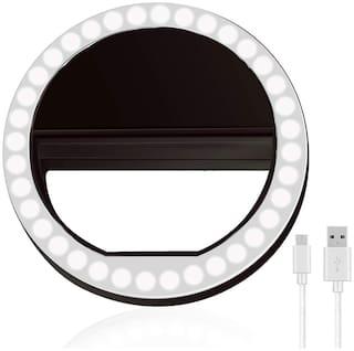Professional Photography 36 LED 3 Level Brightness Selfie Ring Light for Low Light Selfie & Video Calling