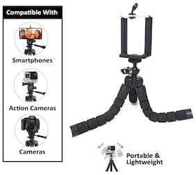 """PUNIX - Gorilla 10"""" Inches Height, Fully Flexible Octopus Tripod Stand for Mobile Phones and DSLR Cameras"""