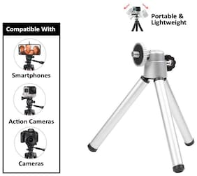 Rednix Mini Tripod Aluminum Metal Lightweight Stand for Point and Shoot Camera Smartphones