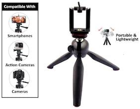 Rednix Universal YT-228 tripod stand For Digital Camera & All Mobile Phones (Black)