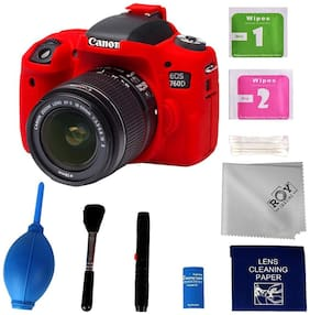 Easycover Canon 760d Camera case ( Red )