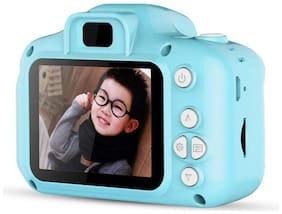 Sami Cartoon Digital Camera Mini 2.0 inch Screen HD 1080P Video Recorder Camera (Navy Blue)
