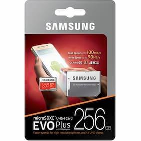 Samsung 256GB Micro SD SDXC MicroSD MicroSDXC Class 10 100MB/s 256 G GB EVO Plus