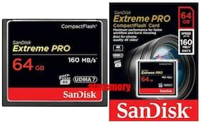 Sandisk Extreme Pro 64GB 64G Compact Flash Card CF 160MB/s 1067x UDMA7 US