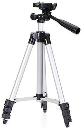SCORIA 3110 Portable and Foldable Camera - Tripod with Mobile Clip Holder Bracket, Stand with 3-Dimensional Head 150 gm
