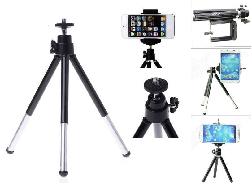 Sheeshaa Metal Tripod Mini Smart Phone Camera Tripod Stand Bracket Holder Mount Adapter For Mobile & Camera