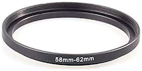 SHOPEE 58mm to 62mm 58-62MM Lens Step Up Filter Ring Stepping Adapter Metal