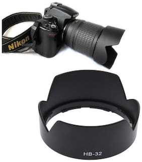 SHOPEE HB-32 Replacement Lens Hood for Nikon Cameras with DX Lens (Black)