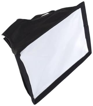SHOPEE Universal Cloth Flash Bounce Diffuser for Canon Nikon Sony (White_15x17 cm)