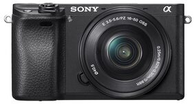 Sony Alpha A6300 (With 16-50mm Lens) 24.2MP Mirror Less Camera (Black) + Carry Case + 16GB SD Card