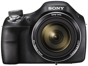 Sony DSC-H400 20.1 MP High Zoom Point & Shoot Camera (Black) + Carry Case + 8GB SD Card