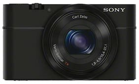Sony DSC-RX100 20.2 MP High Zoom Point & Shoot Camera (Black) + Carry Case + 8GB SD Card