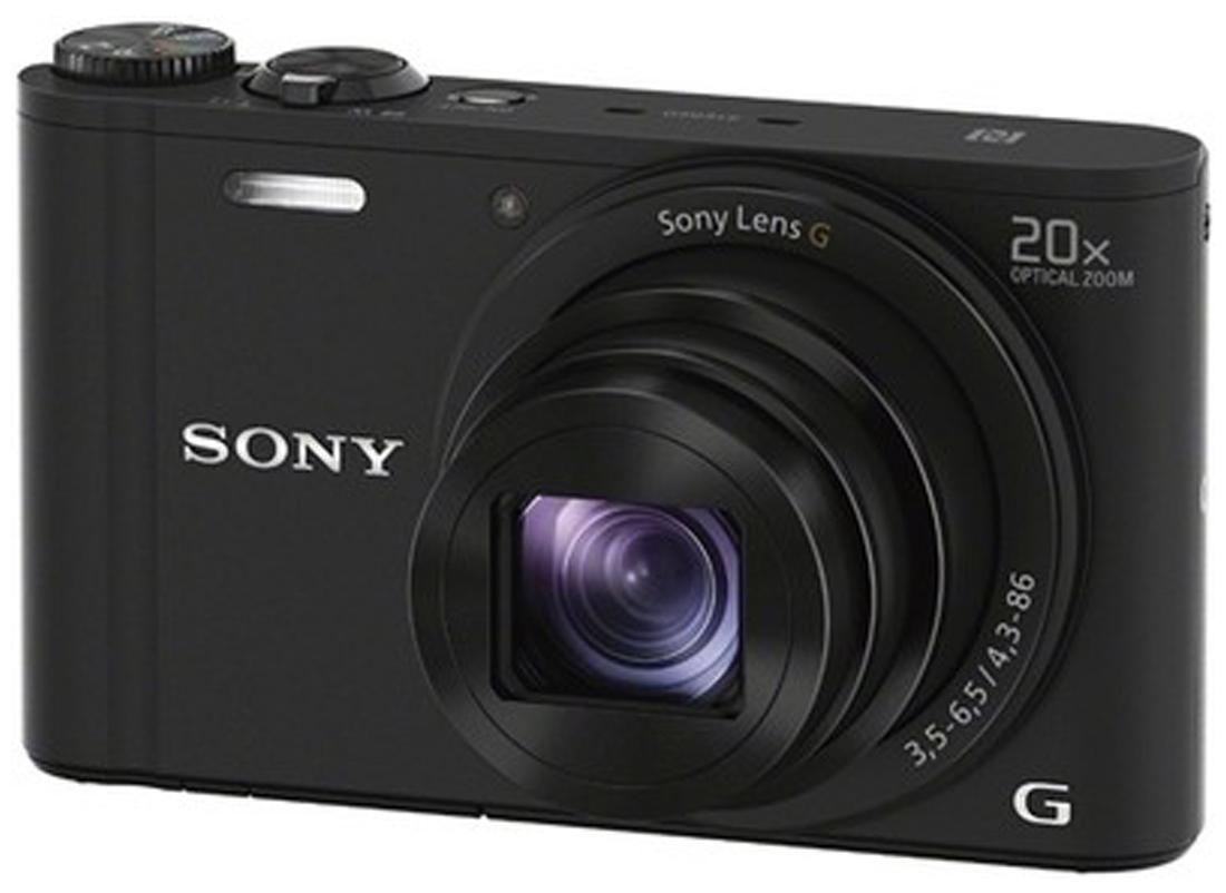 Sony DSC-WX350 18.2 MP High Zoom Point & Shoot Camera (Black) + Carry Case + 8GB SD Card