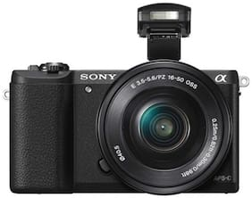 Sony ILCE 5100L/B 24.3 MP Mirrorless Camera  Black  with16 50 lens + Carry Case + 16 GB SD Card