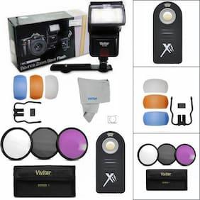SPEEDLIGHT FLASH + HD FILTER KIT FOR NIKON D7100 D7000 D5100 D3200 D3100 D3400