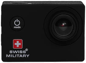 Swiss Military CAM1 Wanderer Sports & Action Camera (Black, 12 MP) with Waterproof Case