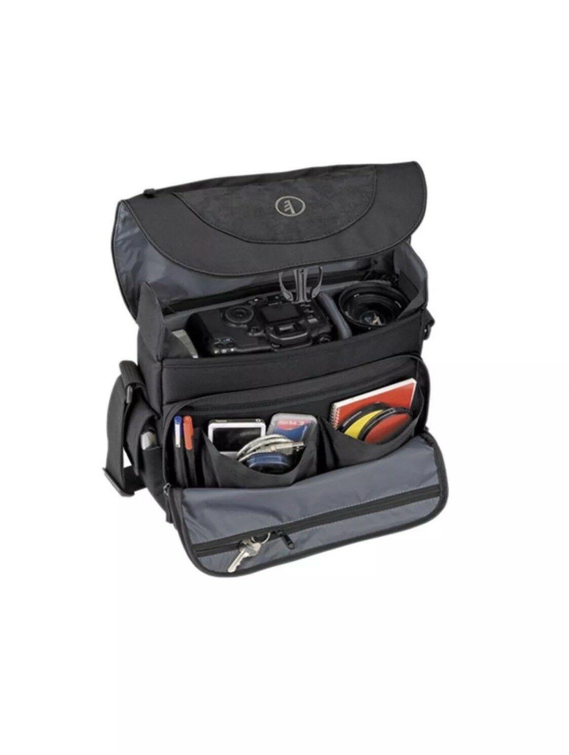 Tamrac Camera Black Shoulder Bag Fits DSLR or  SLR, Lenses Flash Accessories NEW