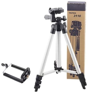 TH POWER GOLD Camera Tripod Stand Holder 3110 Aluminum Professional Telescopic Tripod Monopod for iPhone Samsung Smartphone Action Camera (TIK Tok)