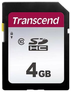 Transcend 4GB 300S Class 10 SDHC Secure Digital Memory Card up to 20MB/s