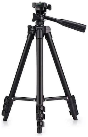Tripod-3110 Portable Adjustable Aluminum Lightweight Camera Stand For apple iPhone 6,6S,7,8,x (BLACK) Crystal Digital