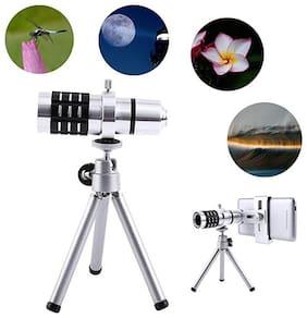 TSV  12x Extra Zoomer Optical Zoom Lens Telescope12x lens Mini Tripod with flexible legs 5 Layers Professional Grade Optical Glass