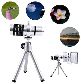 TSV  12x Extra Zoomer Optical Zoom Lens Telescope12x lens Mini Tripod with flexible legs 5 Layers Professional Grade Optical Glass