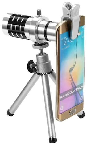 TSV 12x lens Mini Tripod Taking pictures or videos of long distance objects Optical Zooming Lens Telescope Compatible With All Mobiles