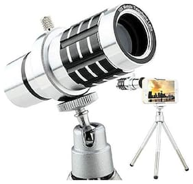 TSV 12x Tripod  Lens Hd Magnifier Lens Comaptible For Tiktok Lovers (Silver)