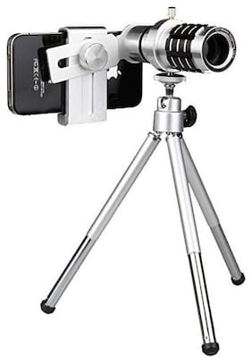 TSV  12x Zoom Mobile Telescope Lens kit for All Mobile Camera with Tripod | DSLR Blur Background Effect [ Android & iOS Devices