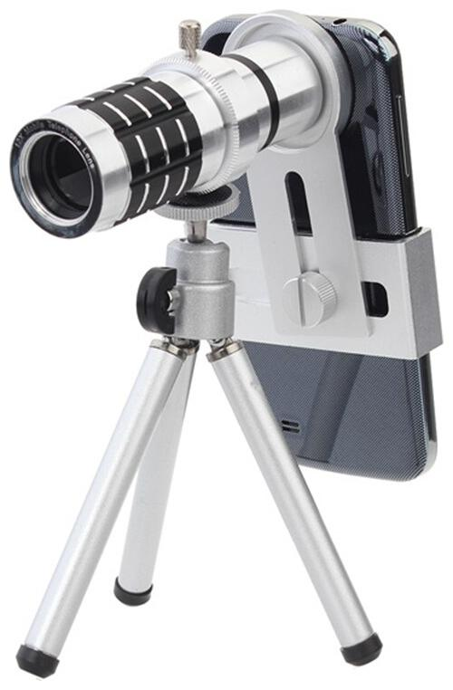 TSV 12x Zoom Universal Mobile Phone Telescope Camera Lens with Tripod + Adjustable Holder by Trendy Shopping Villa