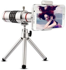 TSV 18X lens Mini Tripod Taking pictures or videos of long distance objects Optical Zooming Lens  Telescope Compatible With All Mobile