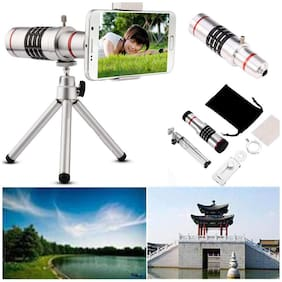 TSV  18X Zooming Telescope Lens with Tripod & Adjustable Holder for Mobile Camera For TIK-TOK & Like app