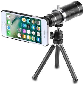 TSV 20X lens Mini Tripod With Flexible Legs Universal Mobile Camera Lens With Tripod & Holder Compatible With All Mobile Phones