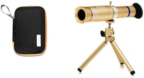 TSV 20X lens Mini Tripod With Flexible Legs Universal Mobile Camera Lens With Tripod & Holder Compatible With Samsung Galaxy J8