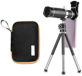 TSV 20X lens Mini Tripod With Flexible Legs Universal Mobile Camera Lens With Tripod & Holder Compatible With Redmi Note 5
