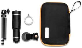 TSV 20X Tripod  Lens Hd Magnifier Lens Comaptible For Tiktok Lovers (Black)
