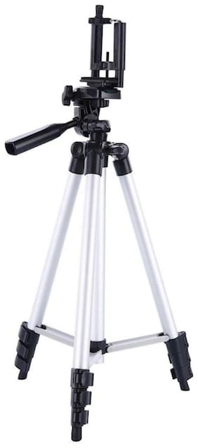 TSV 3110 Foldable Camera Tripod with Mobile Clip Holder Bracket For Samsung Galaxy S9,S8