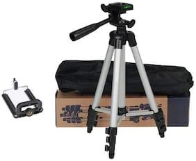 TSV 3110 Foldable Camera Tripod with Mobile Clip Holder Bracket For Samsung,vivo,Oppo,Motorola,apple devices