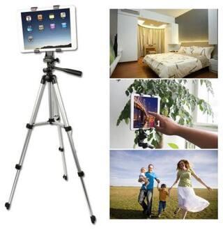 TSV 3110 Tripod Stand for Phone,Lens,Telescope,Camera (Silver)