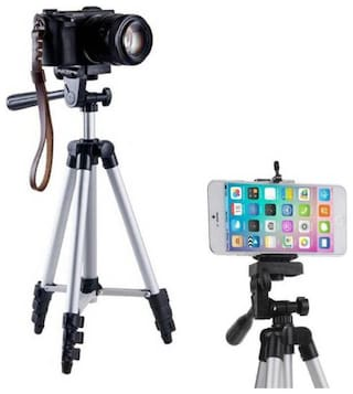 TSV 3110 Tripod/Mount with 360 Degree 3D Head with Quick Release Plate, Portable/Foldable Tripod for Mobile Phones & Cameras