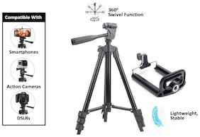 TSV 3120 Flexible Octopus Foldable Tripod for Camera, DSLR and Smartphones with Mobile Attachment,Tripod for Mobile