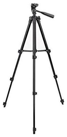 TSV 3120 Foldable Camera Tripod with Mobile Clip Holder Bracket, Fully Flexible Mount Cum Tripod, Tripod Stand & Bag
