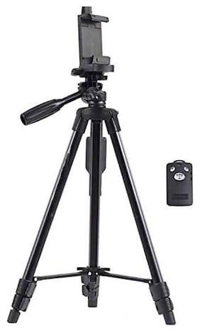TSV 3120 Foldable Camera Tripod with Mobile Clip Holder Bracket For Samsung,vivo,Oppo,Motorola,apple devices